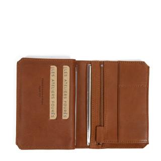 Jean Louis Fourès Baroudeur Wallet 3 flaps 14 cm Fauve