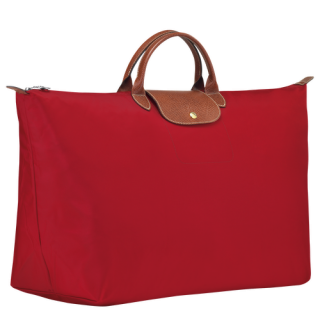 Longchamp The OriginalPliage Red XL Travel Bag