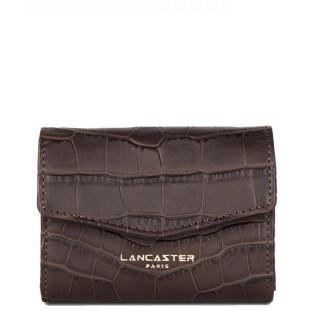 Lancaster Exotic Croco Souple Porte Monnaie 124-14 Marron