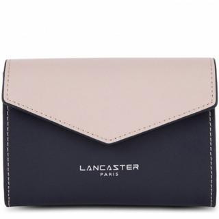 Lancaster Constance Grand Porte Monnaie 137-12 Bleu Foncé Galet Rosé Pastèque