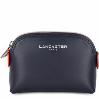 Lancaster Constance Porte Monnaie 137-01 Bleu Foncé Galet Rosé Pastèque