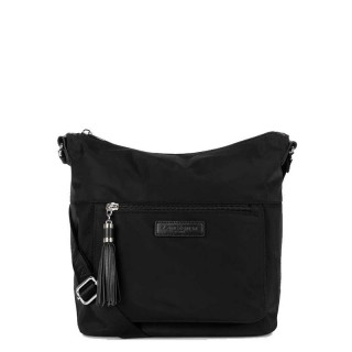 Lancaster Basic Pompon Crossbody Bag 514-90 Black