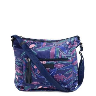 Lancaster Basic Pompon Crossbody Bag 514-90 Blue Flower