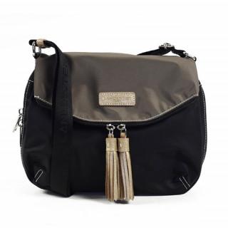 Lancaster Basic Pompon Shoulder Bag 514-91 Black Tach