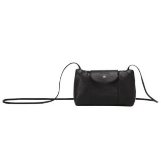 Longchamp Le Pliage Cuir Pochette Noire