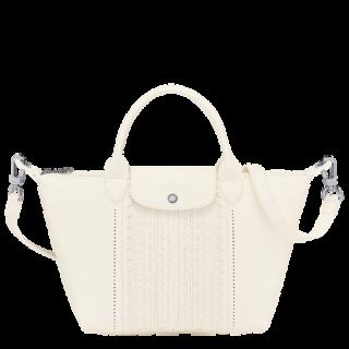 Longchamp The Lace Leather Fold Bag A Main S Ivory