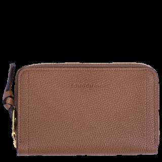 Longchamp Mailbox Wallet Compact Cognac