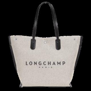 Longchamp Roseau Essentiel Toile Shopping L Ecru