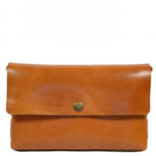 Yolète Andy Bag Leather Pocket Primavera Cognac