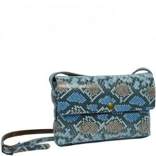 Yolète Andy Bag Leather Pocket Python Blue