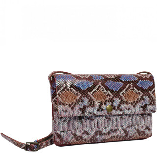 Yolète Andy Bag Red Python Leather Pocket