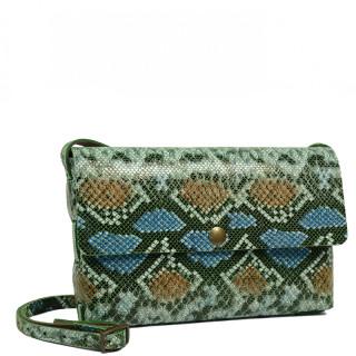 Yolète Andy Bag Leather Pocket Python Green