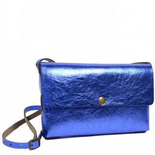 Yolète Andy Bag Leather Laminati Blue