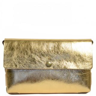 Yolète Andy Bag Leather Pocket Laminati Gold