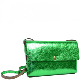 Yolète Andy Bag Leather Pocket Laminati Green