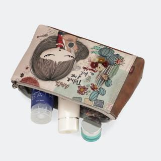Anekke Multicolored Ixchel Cosmetics Kit and Pocket