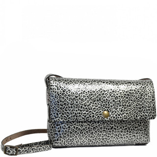 Yolète Andy Bag Leather Pocket Panthera Silver
