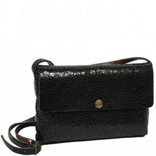 Yolète Andy Bag Leather Leather Leather Panthera Black