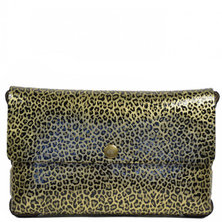 Yolète Andy Sac Pochette Cuir Panthera Or