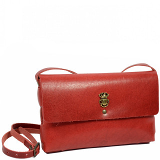 Yolète Andy Bag Jewelry Pocket Scarabée Leather Primavera Cherry