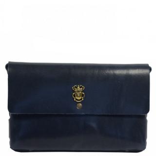 Yolète Andy Bag Jewelry Scarabée Leather Primavera Navy