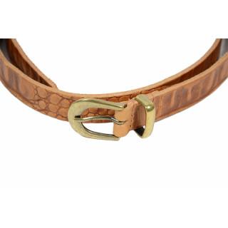 Yolète 201/20 Belt 85 CM Caiman Cognac