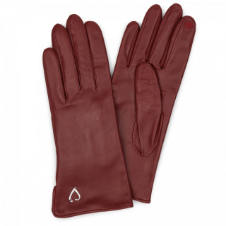 Lancaster Gloves Women Compatible Red Touch Screen