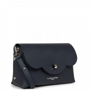 Lancaster City Crossbody Bag 423-48 Dark Blue in Silver