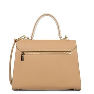 Lancaster City Leather Handbag 528-75 Natural Ecru