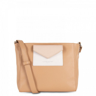 Lancaster Maya Crossbody Bag 517-24 Natural Ecru and Nude Clair
