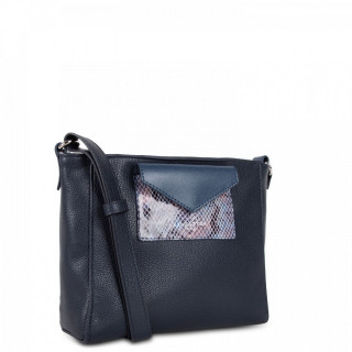Lancaster Maya Crossbody Bag 517-24 Dark Blue and Python
