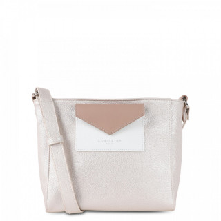 Lancaster Maya Crossbody Bag 517-24 White and Nude Mother-of-Pearl