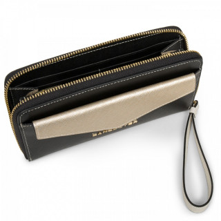 Lancaster Saffiano Signature All in A 127-04 Black Champagne and Ivory