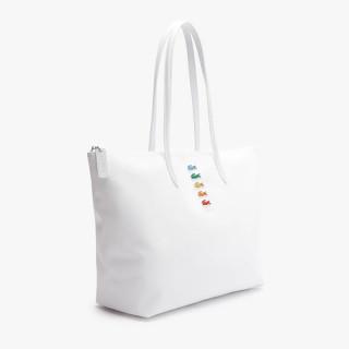 Lacoste Zippé Cabas Bag L12.12 White Pola