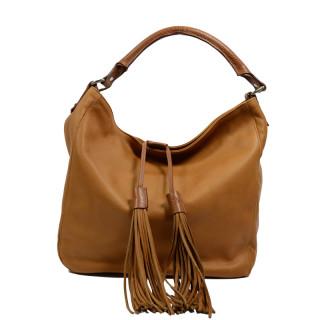 Berthille Hermine Bag Shopping Hobo Leather Whisky