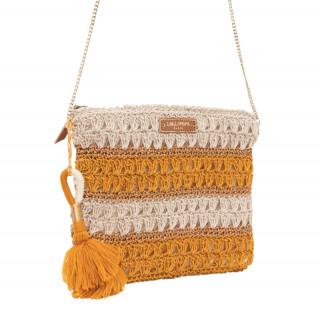 Lollipops Hadele Bag Pocket In Yellow-Golden Crochet