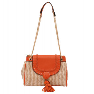 Lollipops Hoze Sac Bandoulière 2 Compartiments Panier Orange-Doré