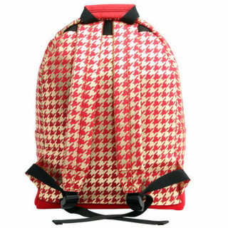 "Mi pac Premium Sac à dos PC 14"" Houndstooth Red Gold dos"