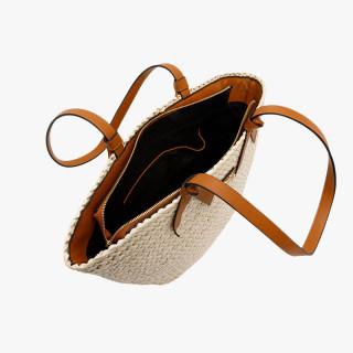 Lollipops Beige-Golden Cat Basket Shopping Bag