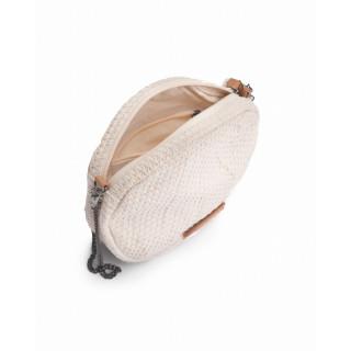 Biba Seychelles Bag Rond Kaki Geometric Texture