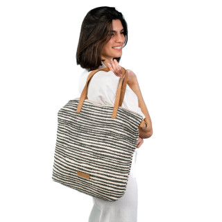 Biba Zanzibar Shopping Bag With Ochre Stripes