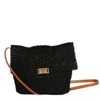 L'Atelier du Crochet Sac Trotteur Raphia Alveola Noir