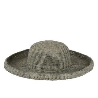 l'atelier du crochet Hat Raphia Edge Rolled Grey