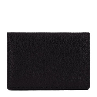 Le Tanneur Charles Card Holder Black Grained Leather