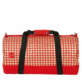 Mi-Pac Duffels Sac de voyage Houndstooth Red Gold