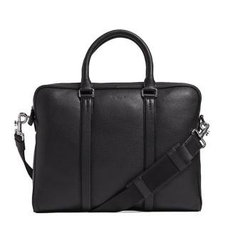"""Le Tanneur Charles Porte Documents 14"""" Black Grain leather"""