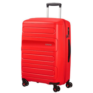 American Tourister Sunside Spinner 68 cm Suitecase Trolley 4 Wheels Sunset Red