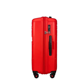 American Tourister Sunside Spinner 68 cm Valise Trolley 4 Roues Sunset Red