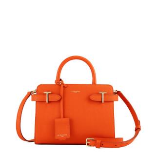 Le Tanneur Emilie Petit Handbag In Citrus Leather