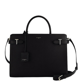 Le Tanneur Emilie Grand Handbag In Black Leather